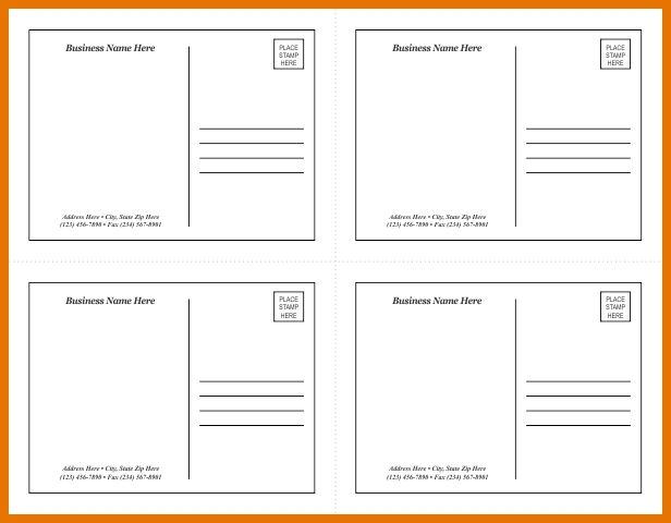 6+ word postcard template | Itinerary Template Sample