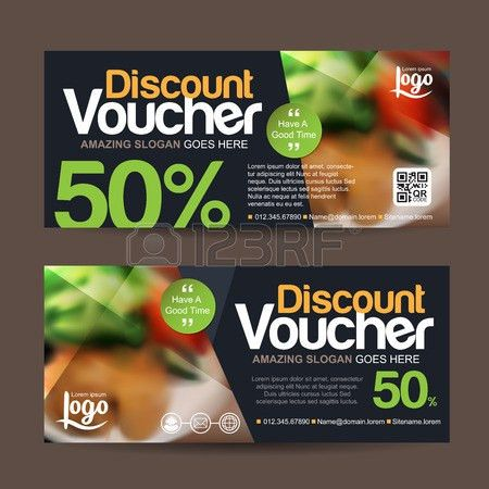 Discount Voucher Template With Clean And Modern Pattern And You ...