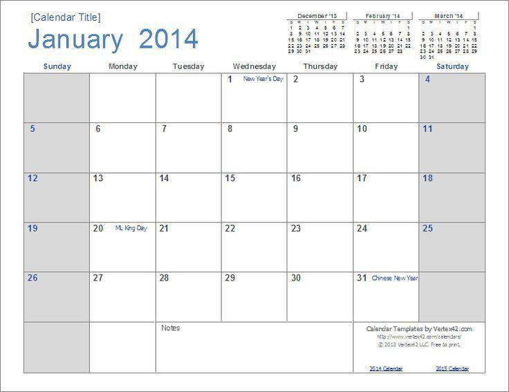 Excel Monthly Calendar. Wincalendar Com | 2015 Calendar Template ...