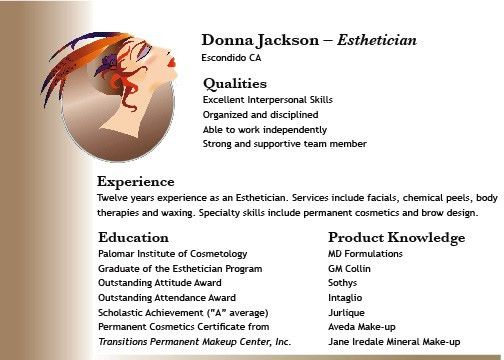Esthetician Resume Samples | Free Resumes Tips