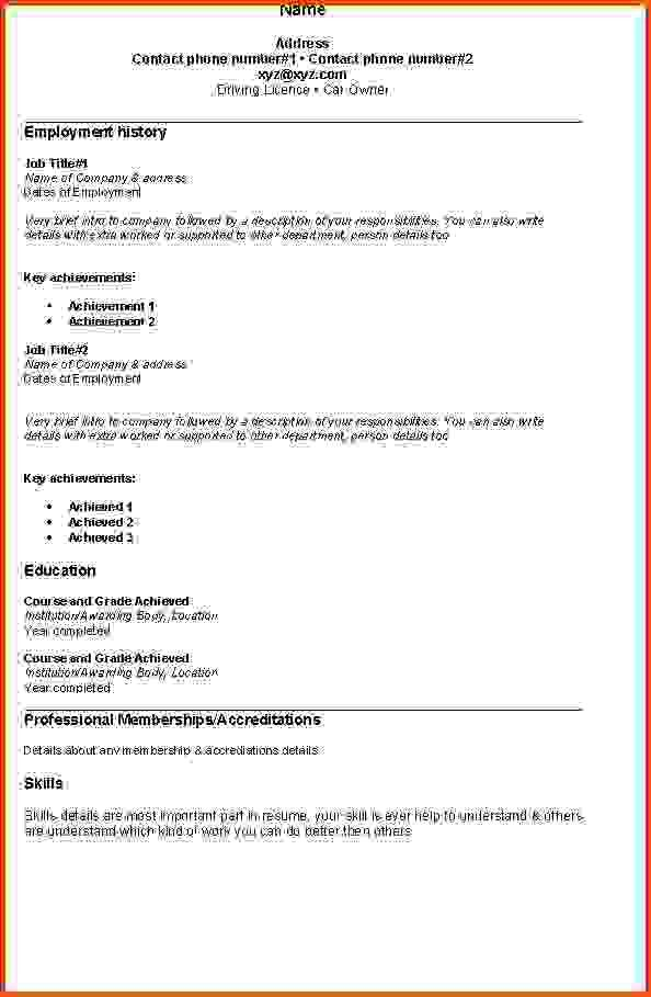 8 simple resume examples | Sponsorship letter