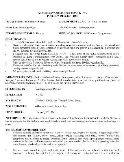 janitor combination resume sample. sample resume custodial ...