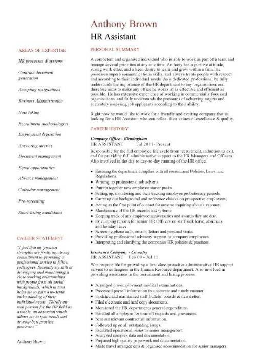 human resources administrator resume. 38 sample resume templates ...