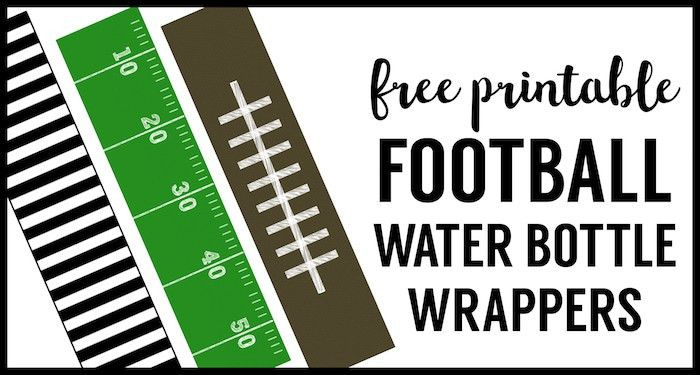 Football Water Bottle Labels Free Printable - Paper Trail Design