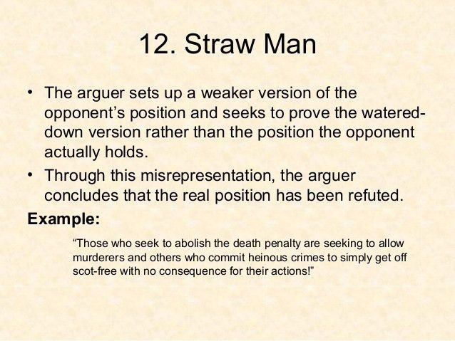 What Is A Strawman? And Debunking The IRS's Straw Man Argument ...