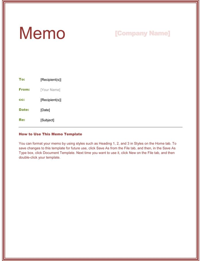 Formal Memo Template Ideas for Microsoft Word Documents : Vlcpeque