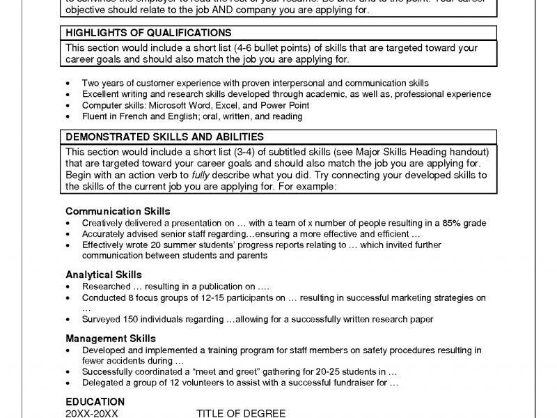 Valuable Skills Resume Template 11 Skill Examples For Resumes - CV ...