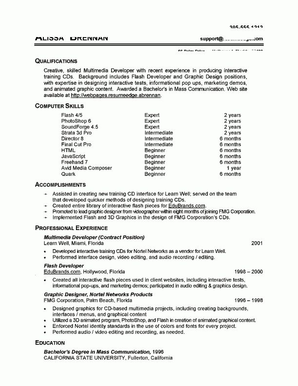 sample nanny resume examples with sample experienced nanny resume ...