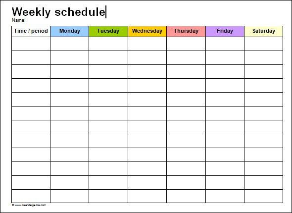 shipping schedule template
