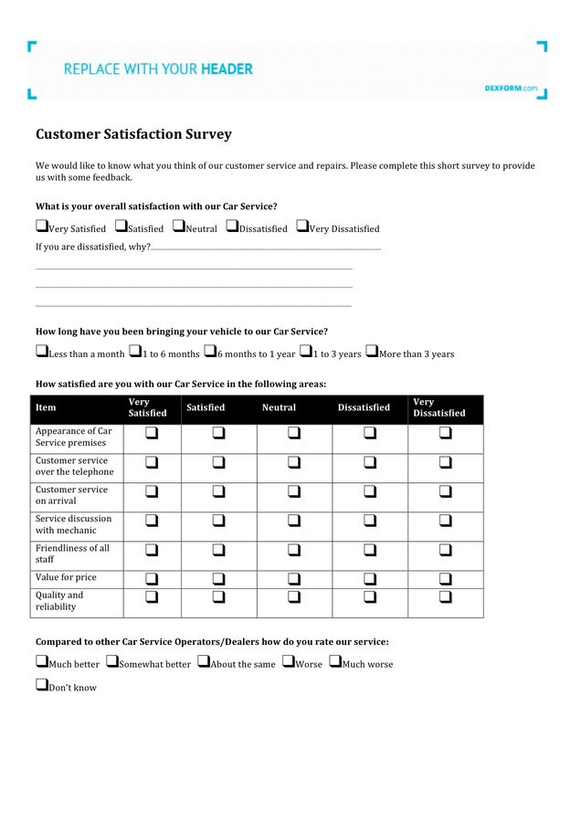 Customer Satisfaction Survey - download free documents for PDF ...