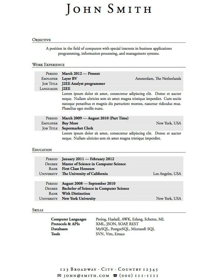 internship resume example sample college student resume for ...