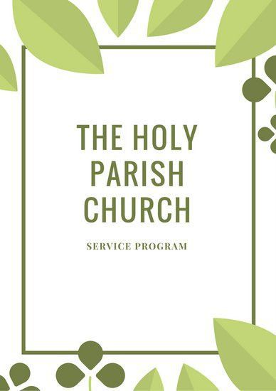 Church Program. Church Program Templates Free Free-Printable ...