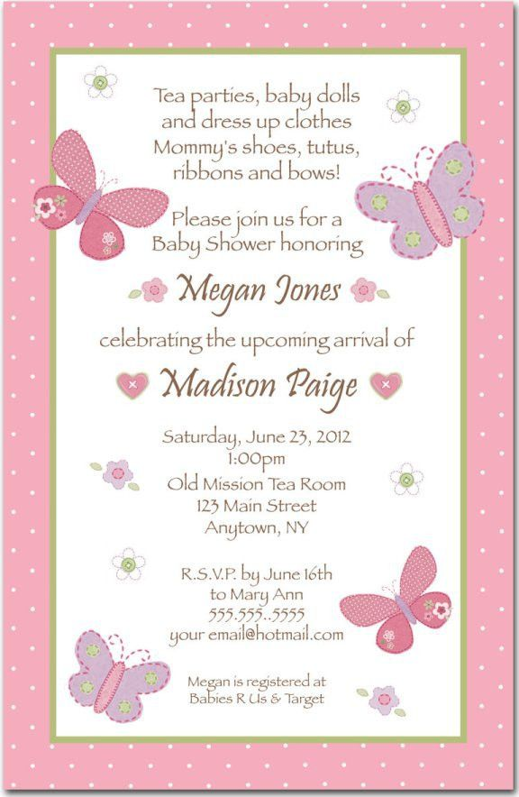 Baby Shower Invitation Wording For Girls | THERUNTIME.COM