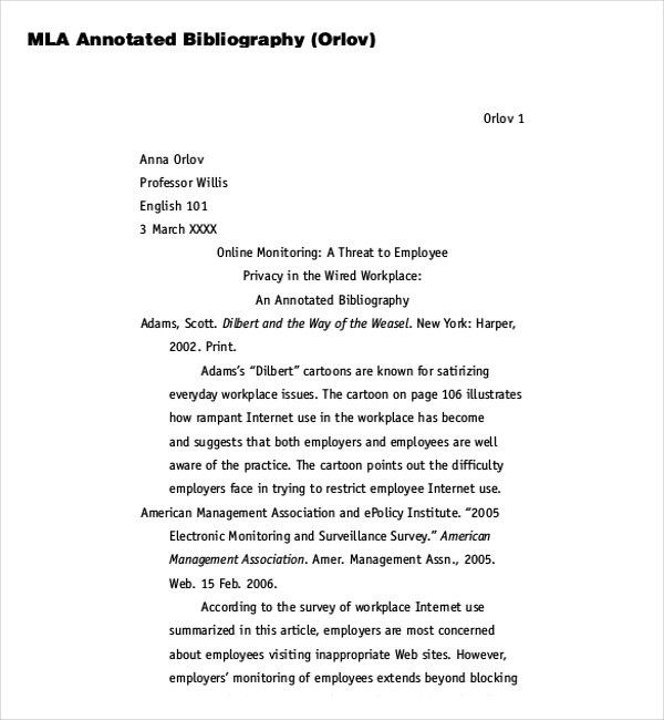 MLA Bibliography Example and Citations - Obfuscata