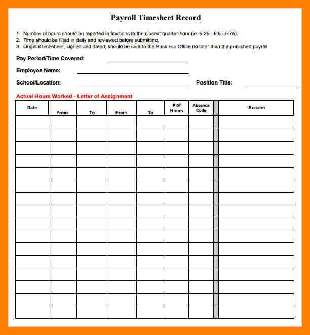 Sample Daily Timesheet. Printable Hourly Time Sheets | Printable .