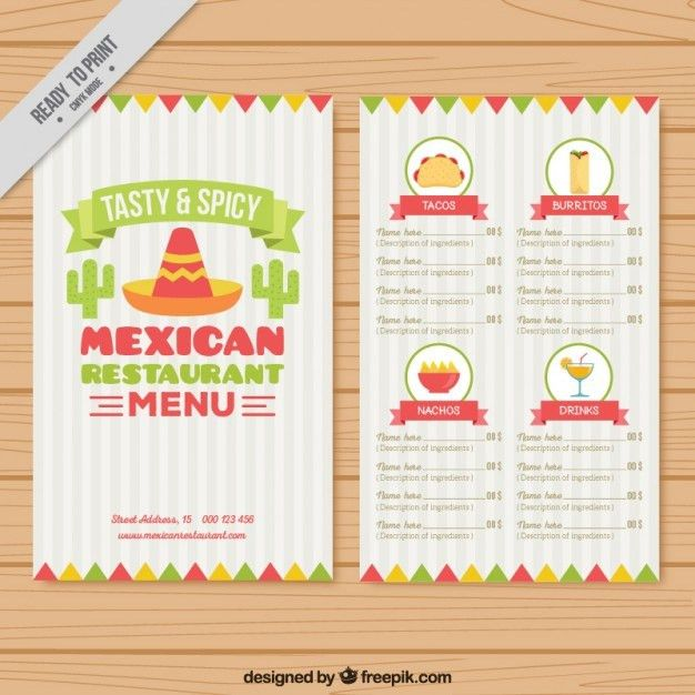 free menu templates for word | Professional Templates
