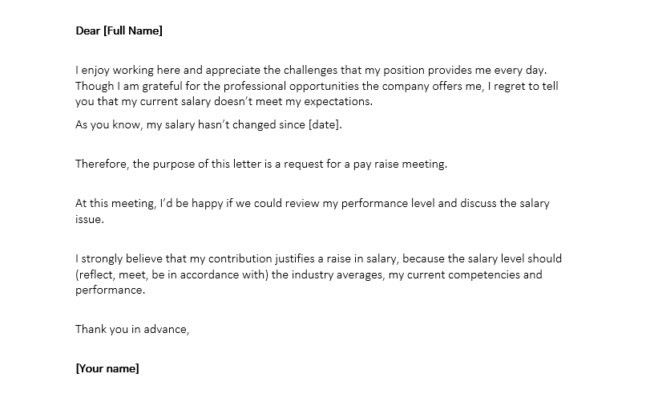 Letter Format For Salary Increment | The Letter Sample