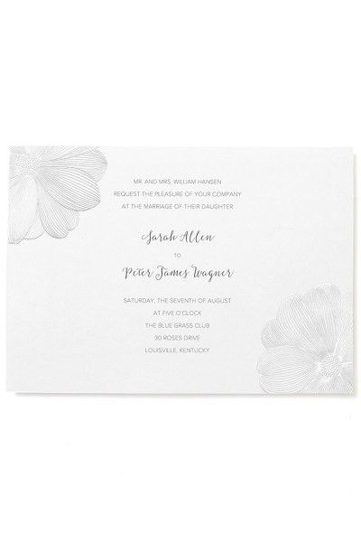 Floral Print at Home Invitation Kit | Gartner Studios
