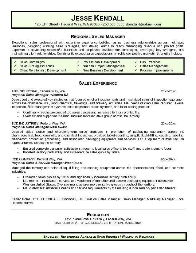 Sample Manager Resume Template. Sales Manager Resume Sample Sales ...