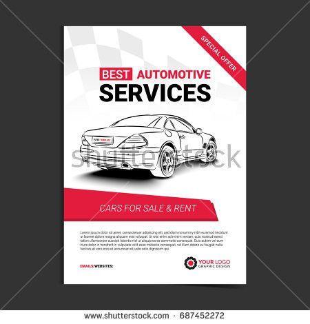 Rent Car Business Flyer Template Auto Stock Vector 549787564 ...