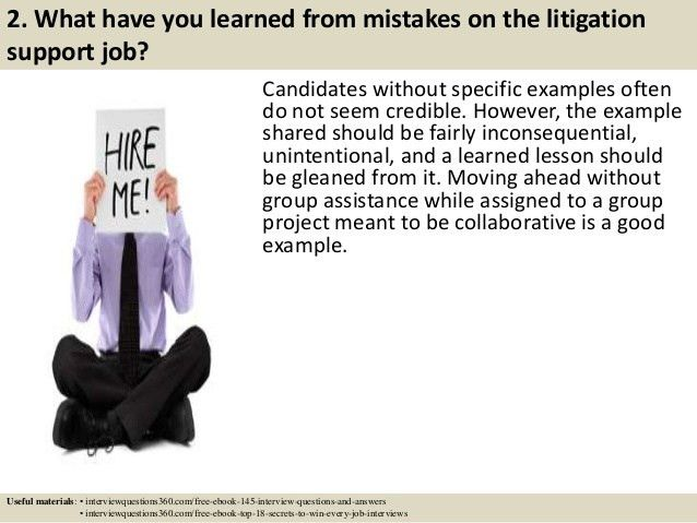 Top 10 litigation support interview questions and answers