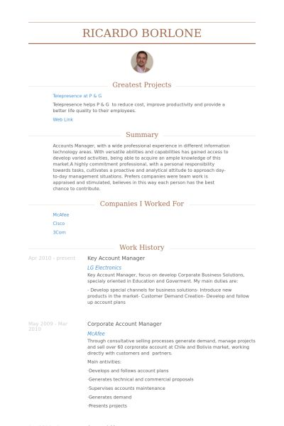 account manager resume example account manager cv template sample