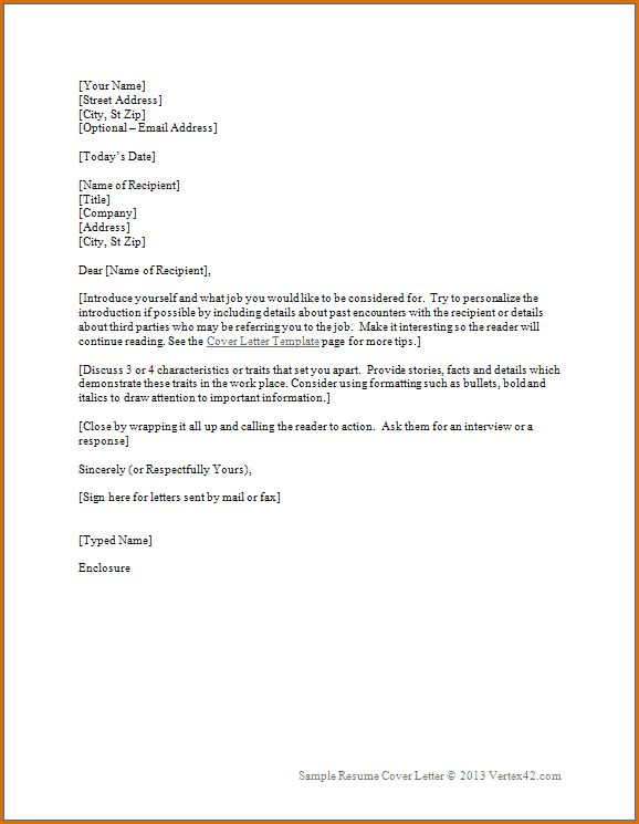 Best Cover Letters Examples - Best Letter Sample