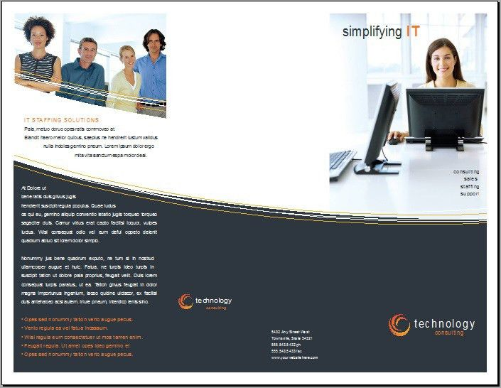 Open Office Pamphlet Template - Ecordura.com