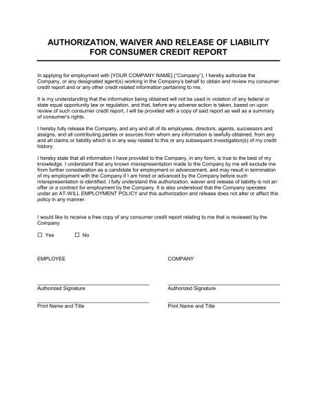Company credit card agreement for employees