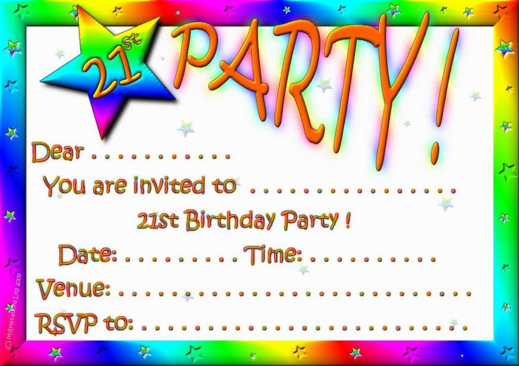 Party And Free Printable Birthday Invitation Templates Cards ...