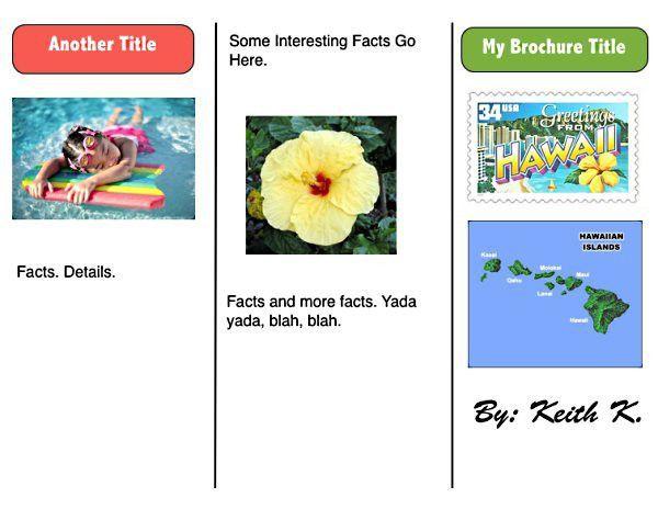 iPad - iWork Tri-Fold Brochure Template | K-5 Computer Lab
