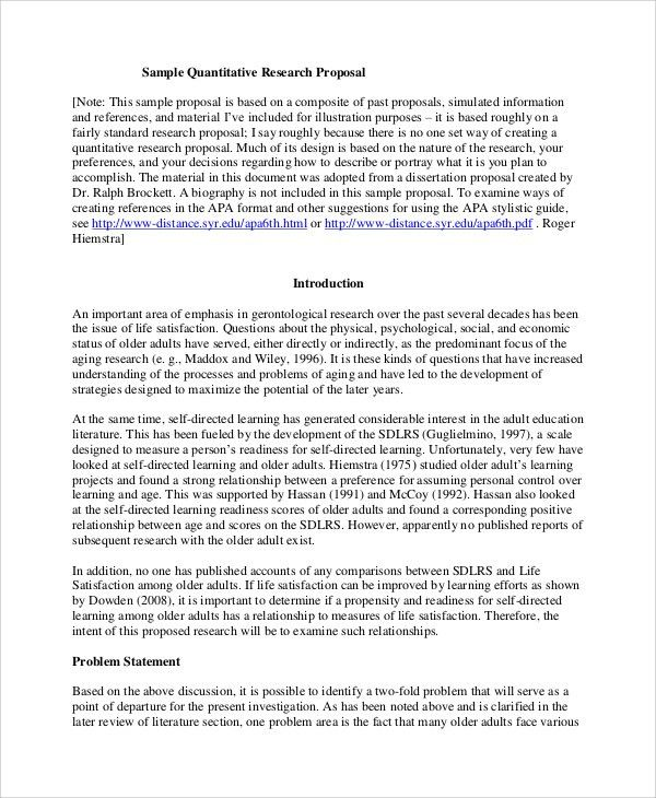 Sample Research Proposal - 7+ Documents in Word, PDF