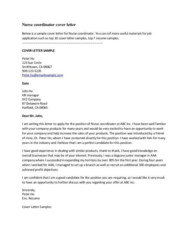 Killer Cover Letter Samples - Best Letter Sample