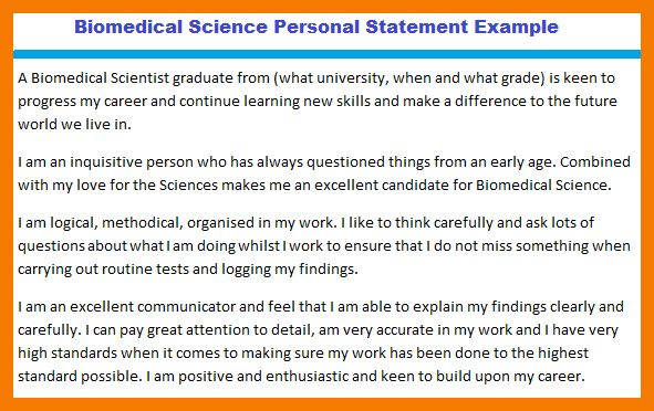 8+ personal statement example | resume holder