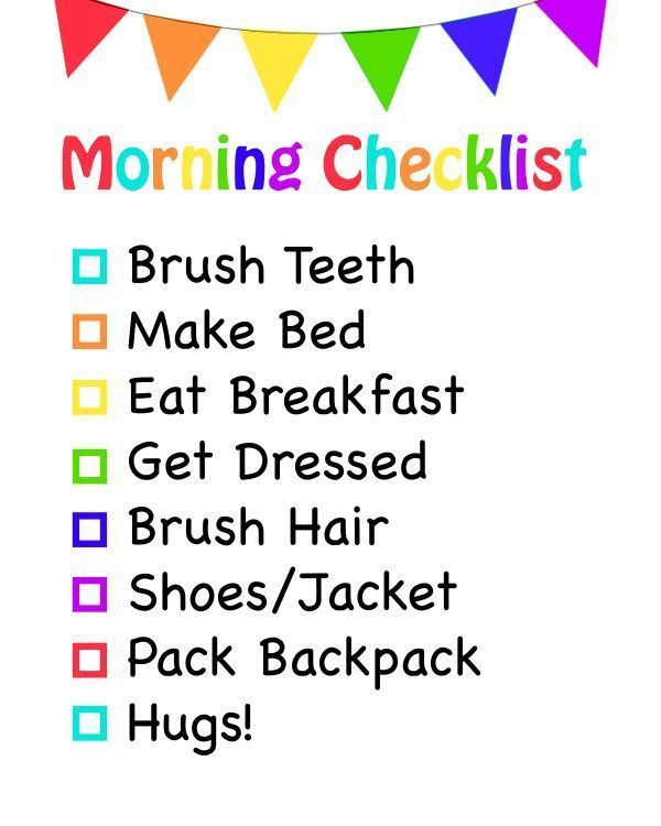 Best 25+ Morning checklist ideas on Pinterest | Morning routine ...