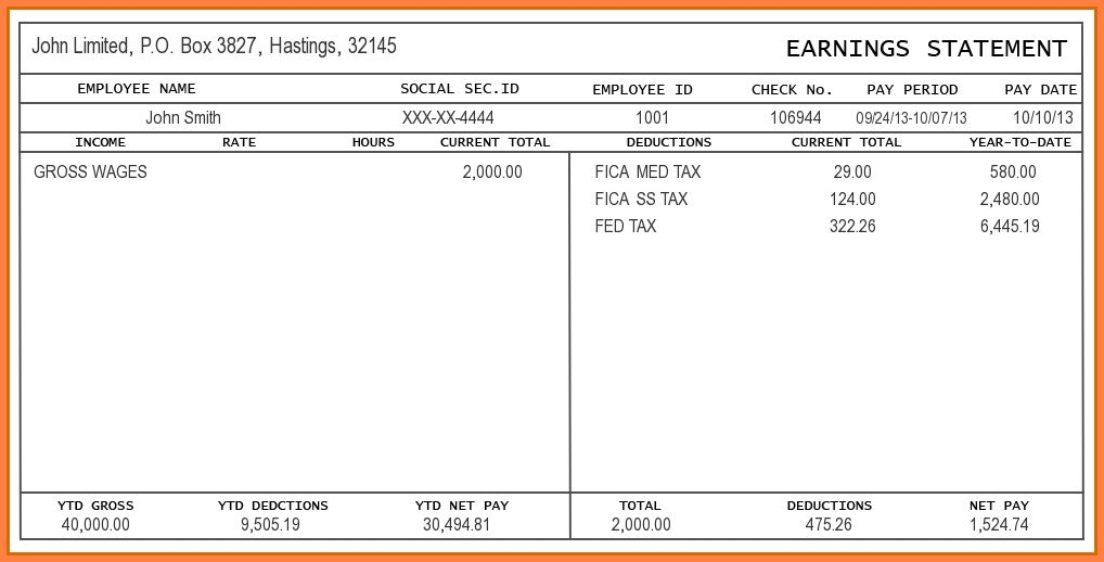 Free Paystub Template Excel. pay stub template 17 free samples ...