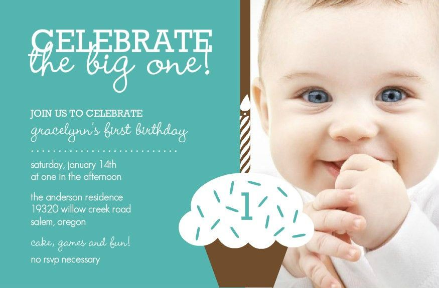 First Birthday Invitations Template Ideas