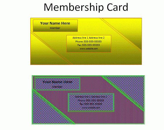 Membership Card Template | Free Business Templates