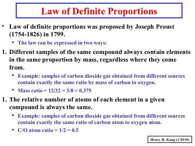 Law Of Multiple Proportions Worksheet - Chriswoodfans