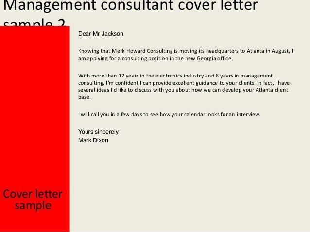 Download Management Consulting Cover Letter Samples ...