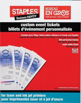 Staples® Custom Event Tickets | Staples®