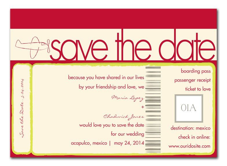 Jet Setter - Save the Date Announcements by Invitation Consultants ...