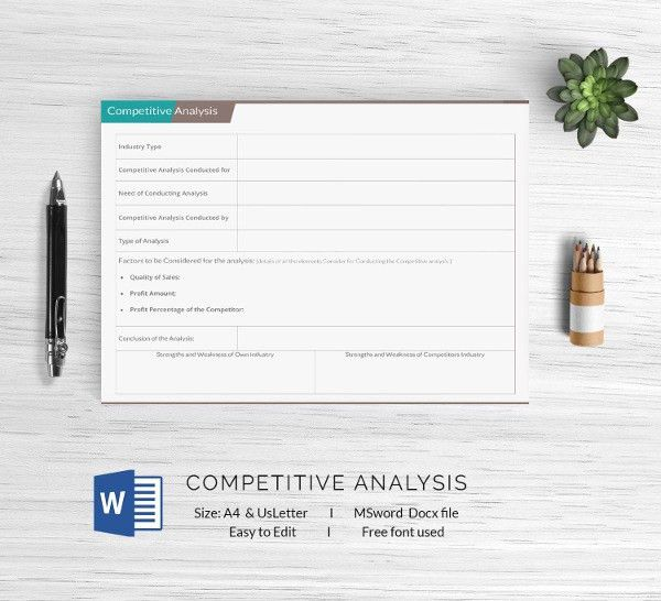 13+ Free Analysis Templates - Swot, Competitive, Gap, Impact ...