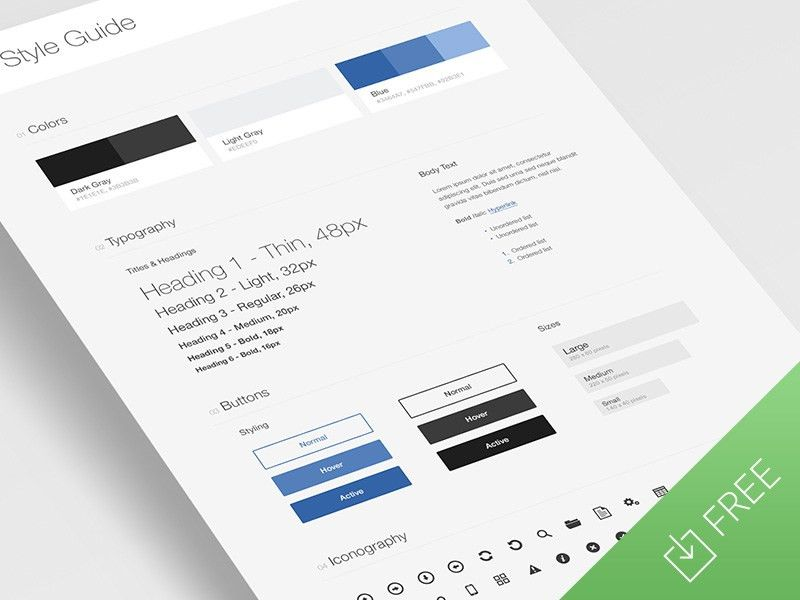 UI Style Guide Template by Tony Thomas - Dribbble
