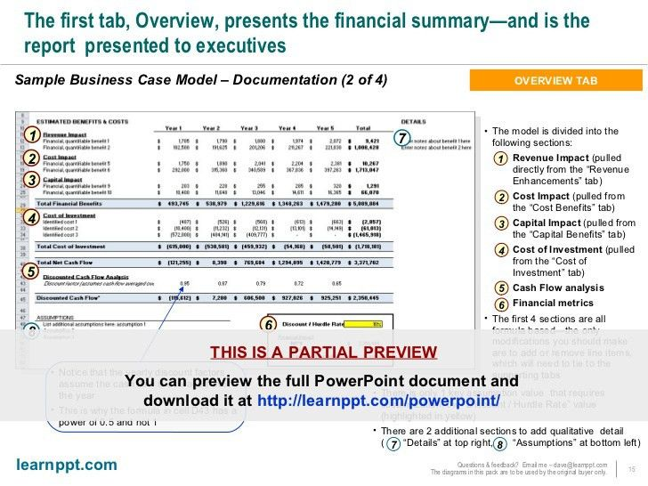 Business Case Development Toolkit (with Excel model)