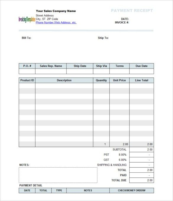 Company Sales Payment Receipt Template , The Proper Receipt Format ...