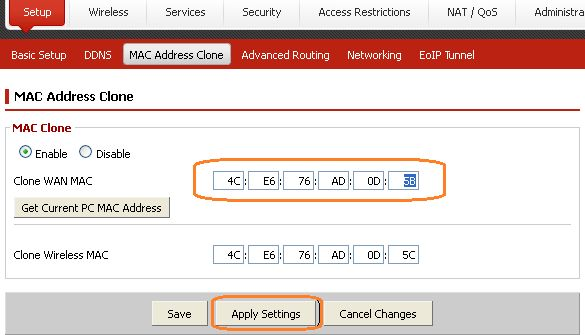 How to: Change WAN MAC address on Professional Firmware. - Details ...