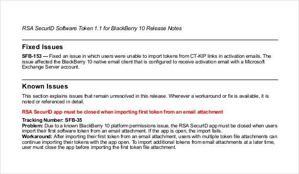 Release Notes Template - 9 Free Word, PDF Documents Download ...