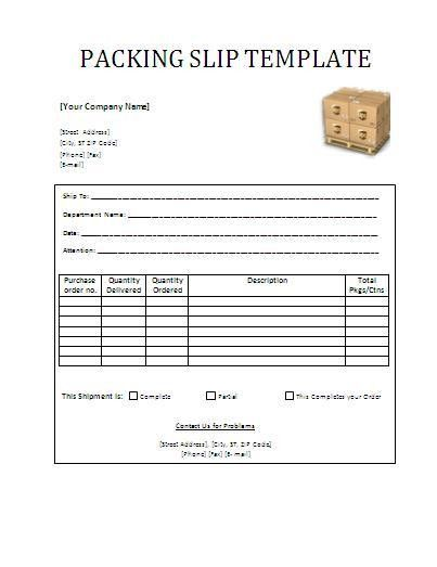 Packing Slip Template | Wordtemplateshub.com