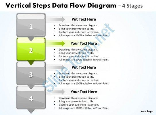 Business PowerPoint Templates vertical steps data flow diagram ...